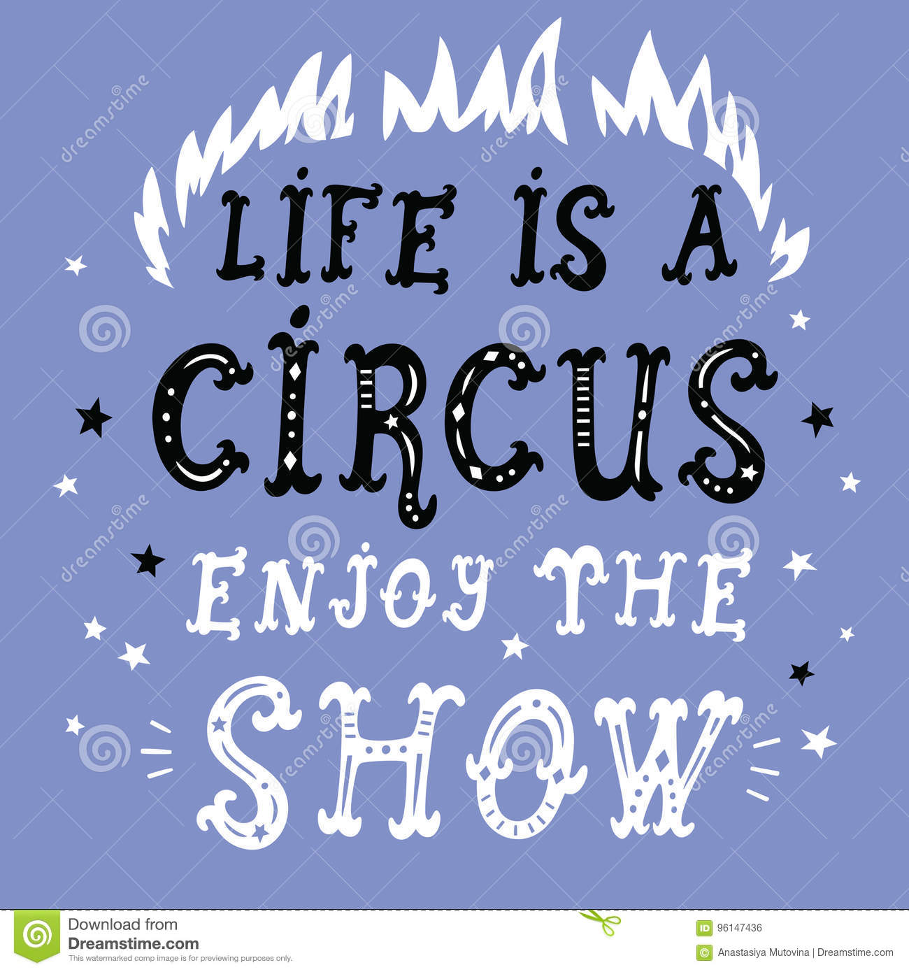 online store 2f36d f6d22 Life is a circus poster stock vector. Illustration of ...