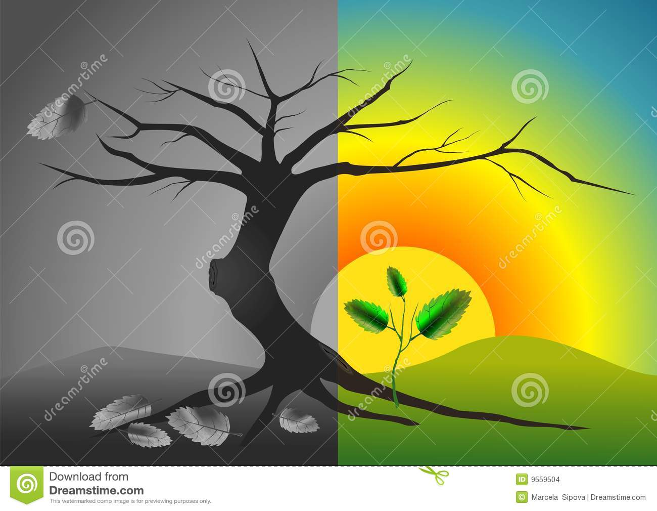 Life And Death Stock Images - Image: 9559504