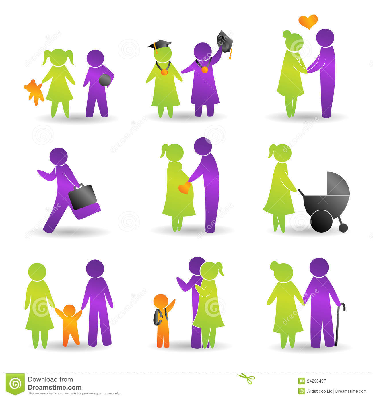 Life Events Icons Royalty Free Stock Photography Image