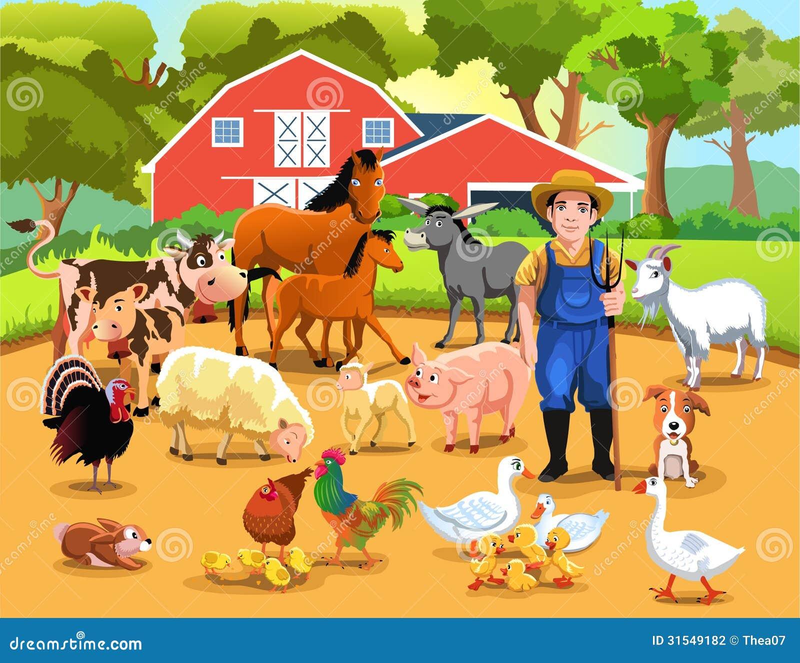 Life on the farm stock photography image 31549182 - Parador de la granja fotos ...