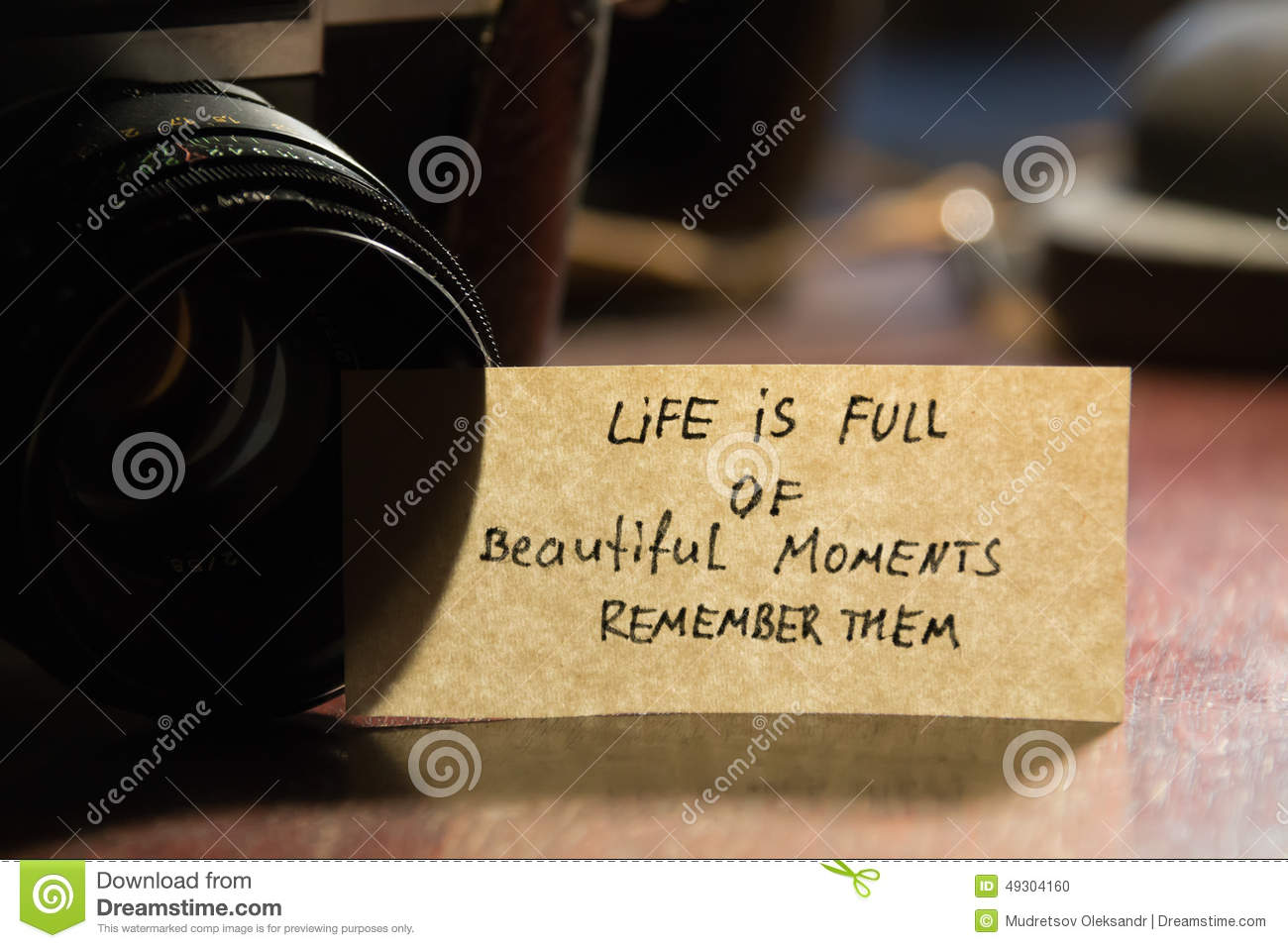 Life Is Full Of Beautiful Moments Remember Them Stock Photo