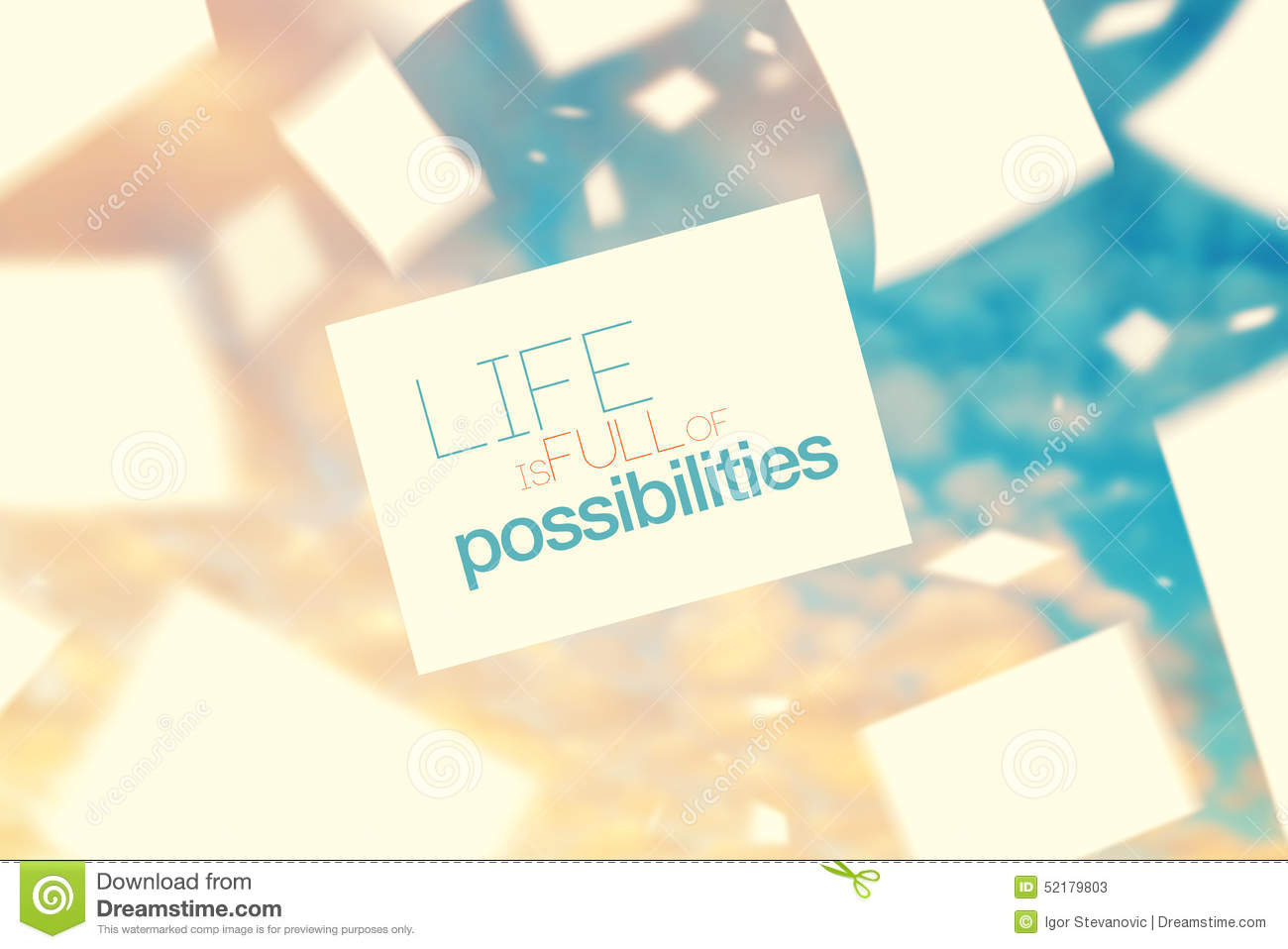 Life Is Full Of Possibilities Stock Image Image Of Concept