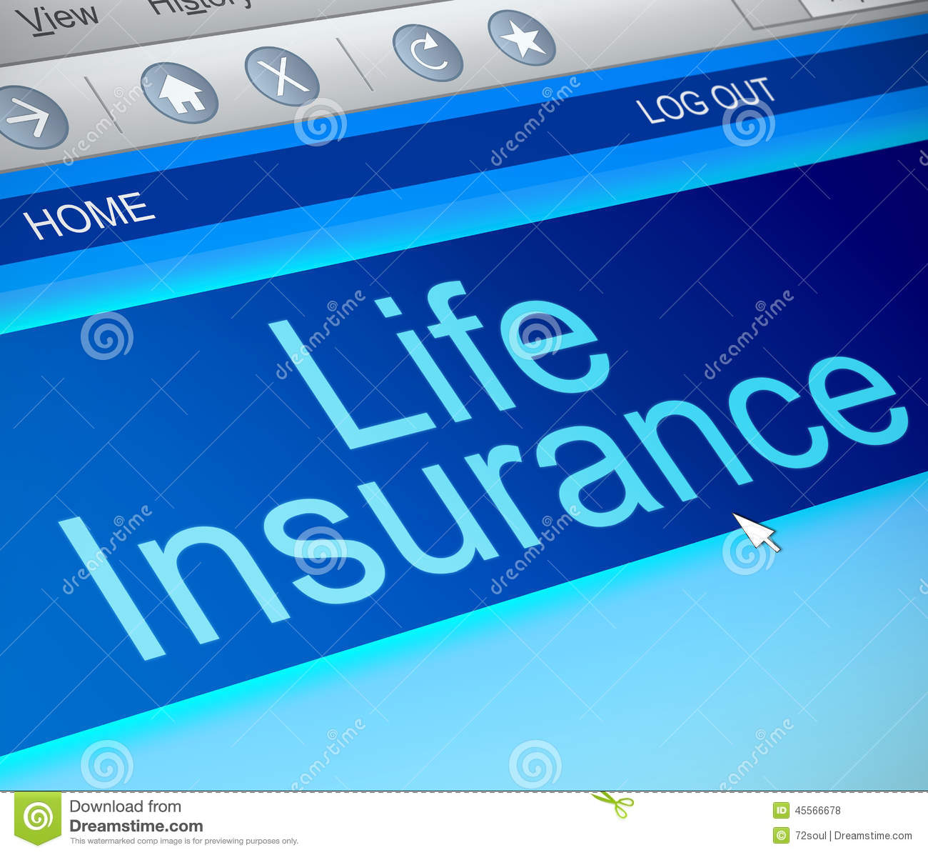 Life insurance concept. stock illustration. Illustration ...