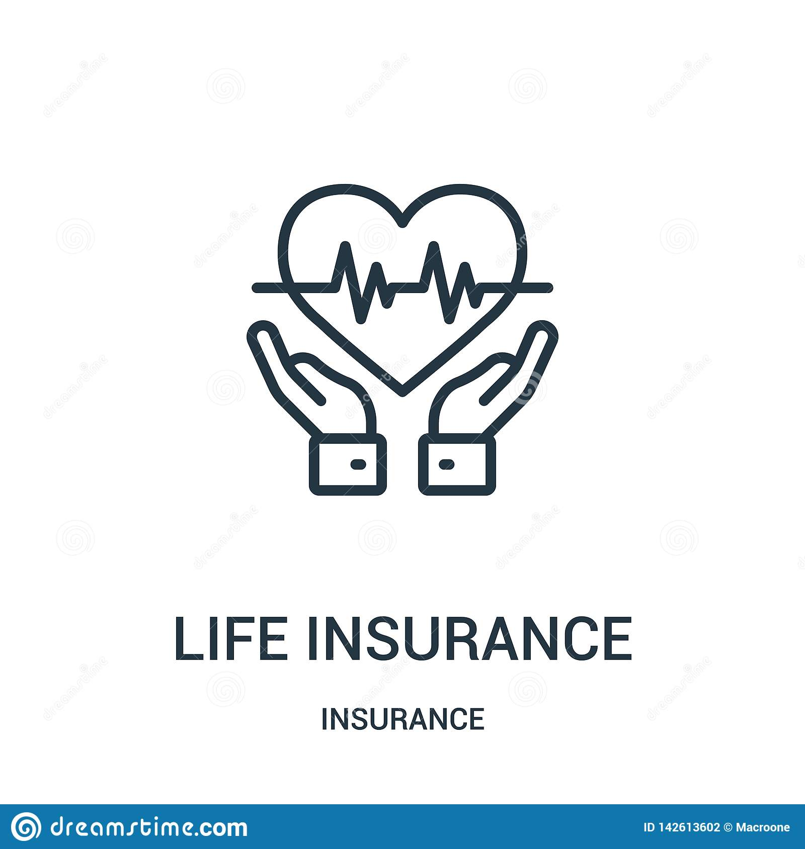 Life Insurance Icon Vector From Insurance Collection. Thin ...