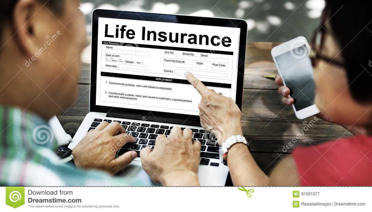 Life Insurance Policy Terms Of Use Concept Stock Image ...