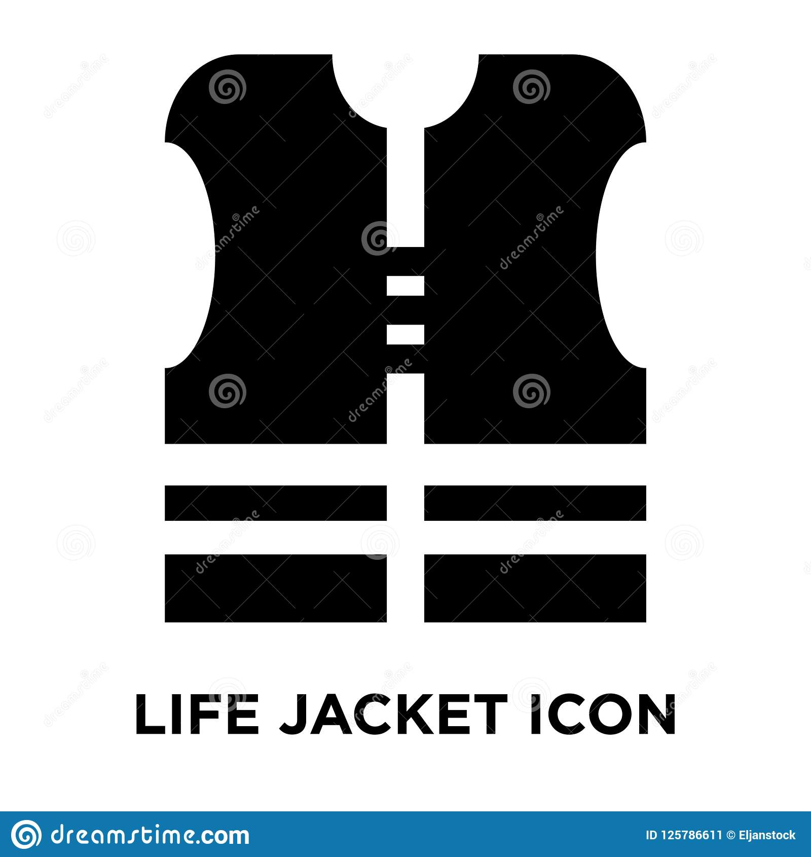 Life Jacket Icon Vector Isolated On White Background Logo Concept Of Life Jacket Sign On Transparent Background Black Filled Stock Vector Illustration Of Ship Clothes 125786611