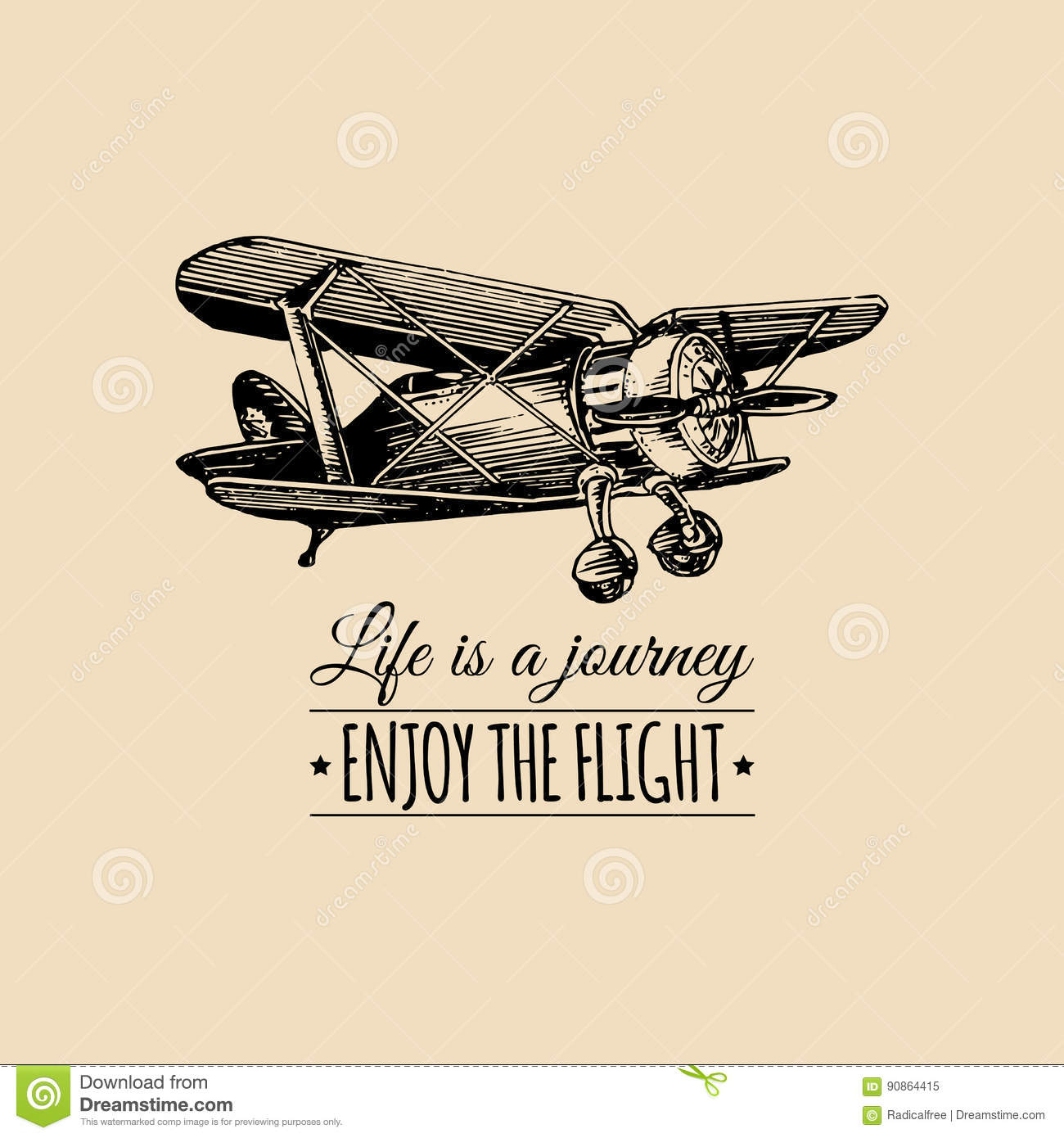 Classic Retro Illustration: Aviation Cartoons, Illustrations & Vector Stock Images