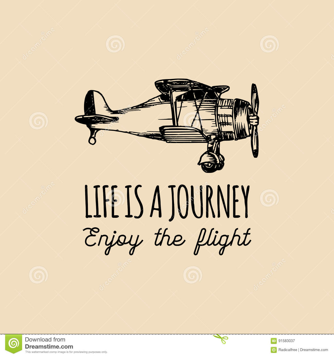 Inspirational Quotes About Life S Journey: Life Is A Journey,enjoy The Flight Motivational Quote