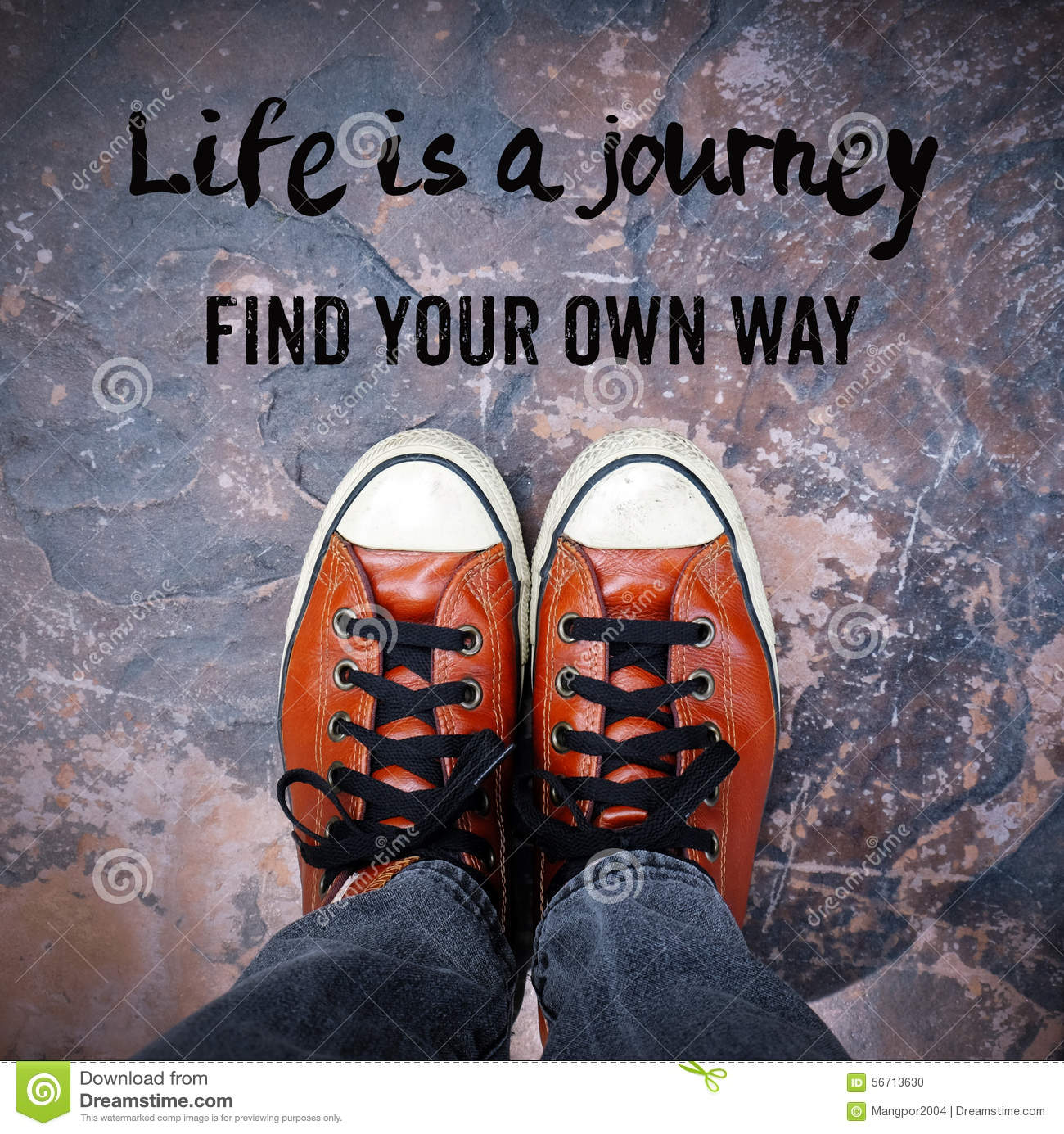 Quotes Life Journey Life Is A Journey Find Your Own Way Quotation Stock Photo