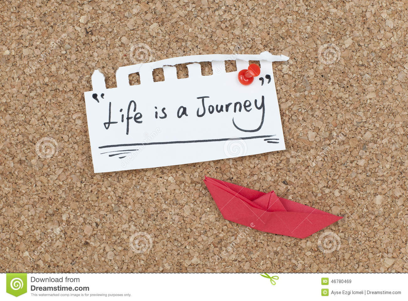 Life Is A Journey Inspirational Quote Design Stock Image Image Of