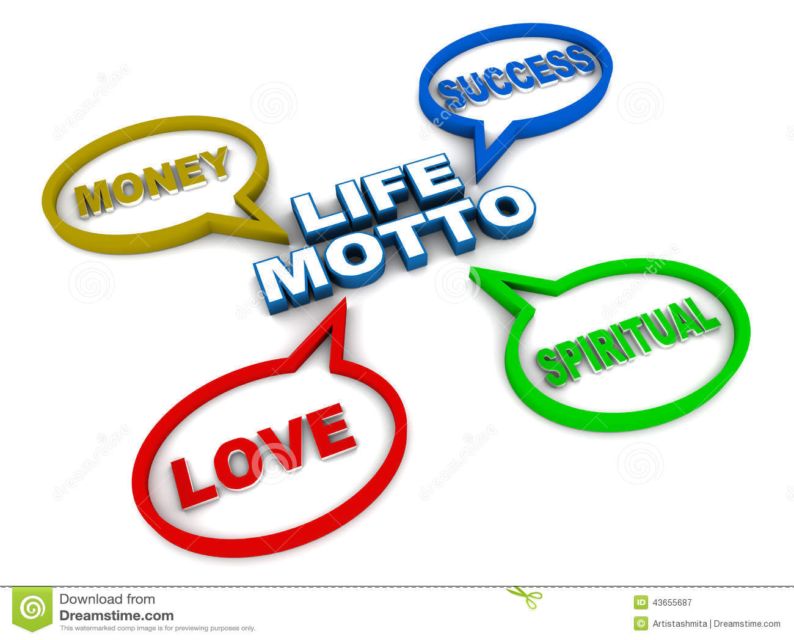 Life Motto Stock Illustration - Image: 43655687