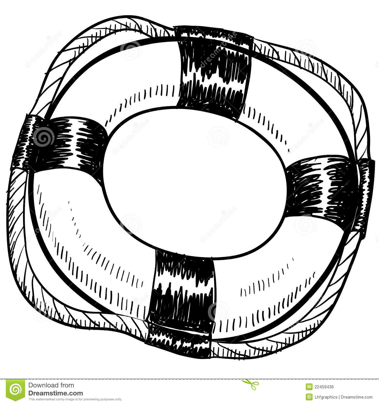 Life Preserver Drawing Royalty Free Stock Image - Image: 22459436