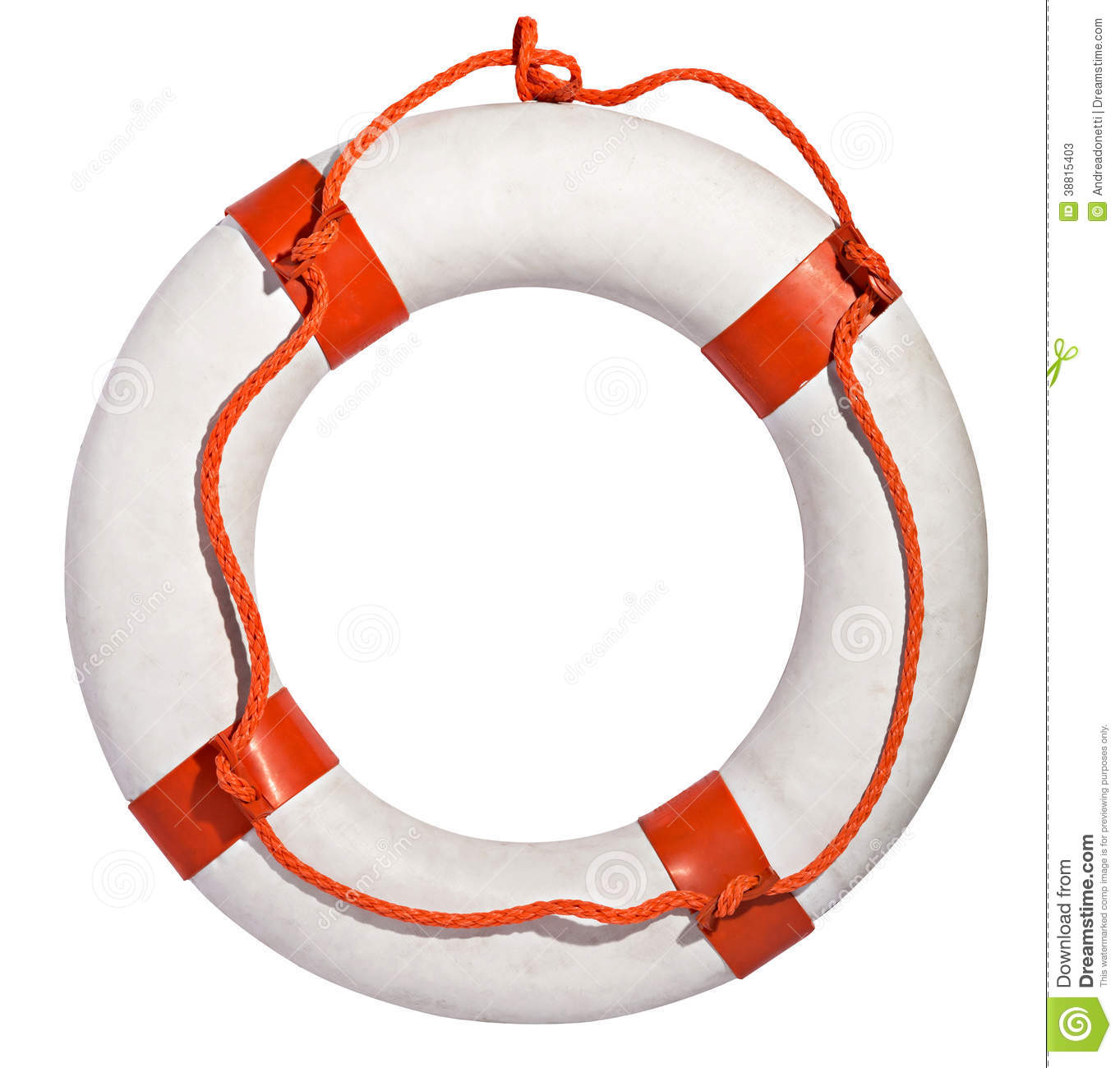 Download Life Preserver With Red Rope Stock Image - Image of preserver, ring: 38815403