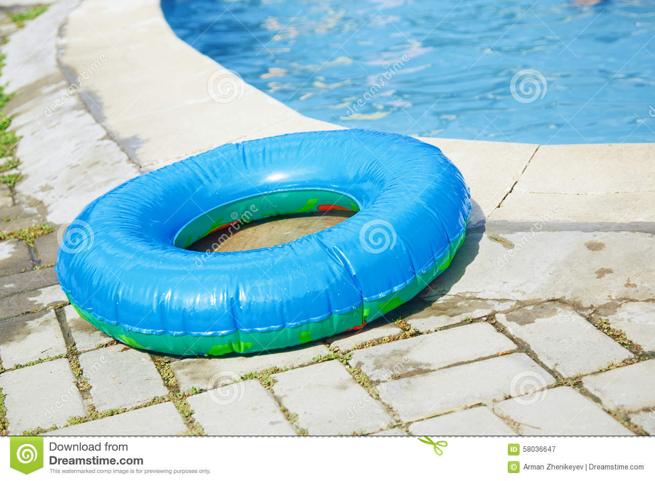 Life Ring At The Swimming Pool Stock Image Image 58036647