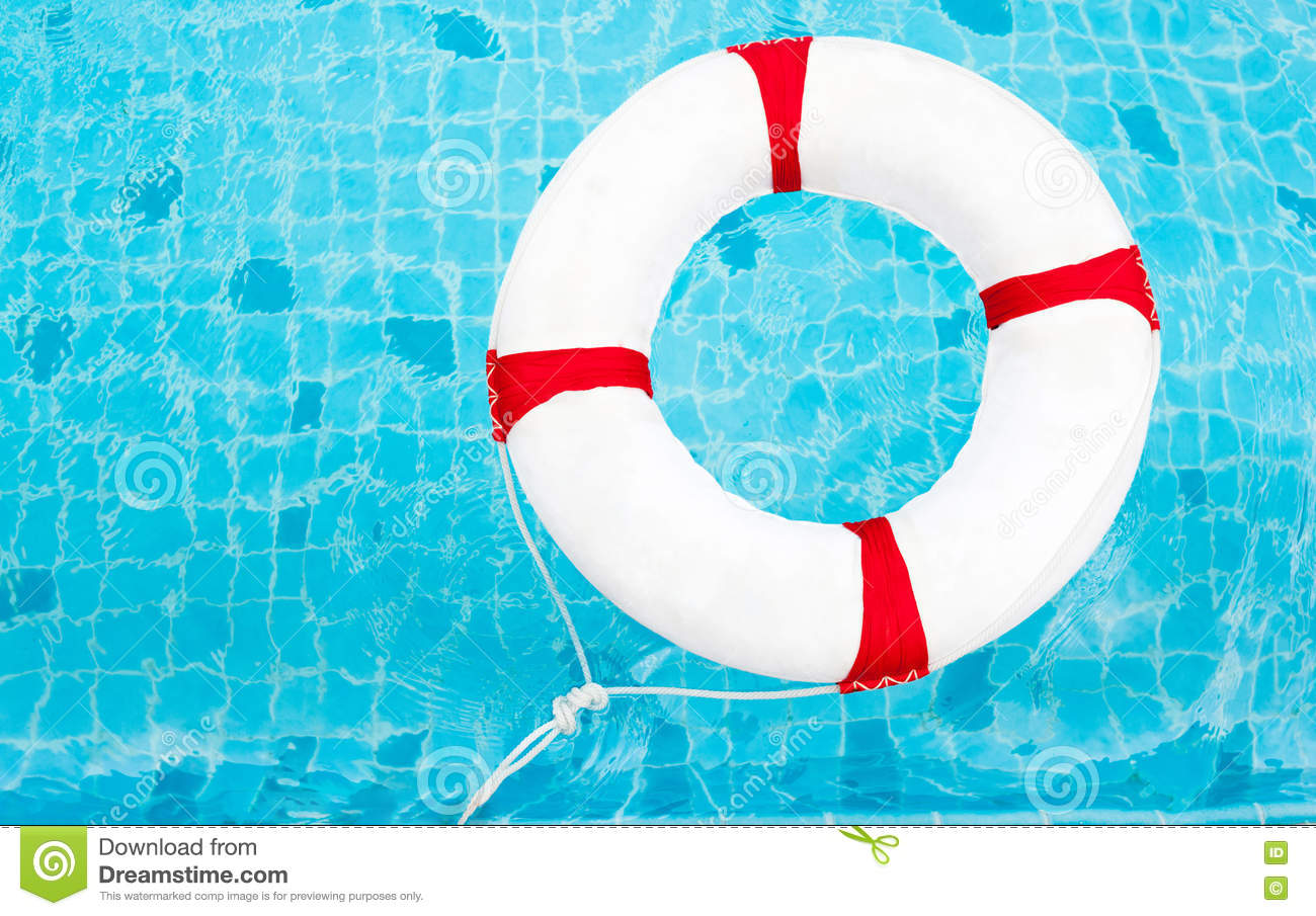 Life Ring At The Swimming Pool Life Ring On Water Life