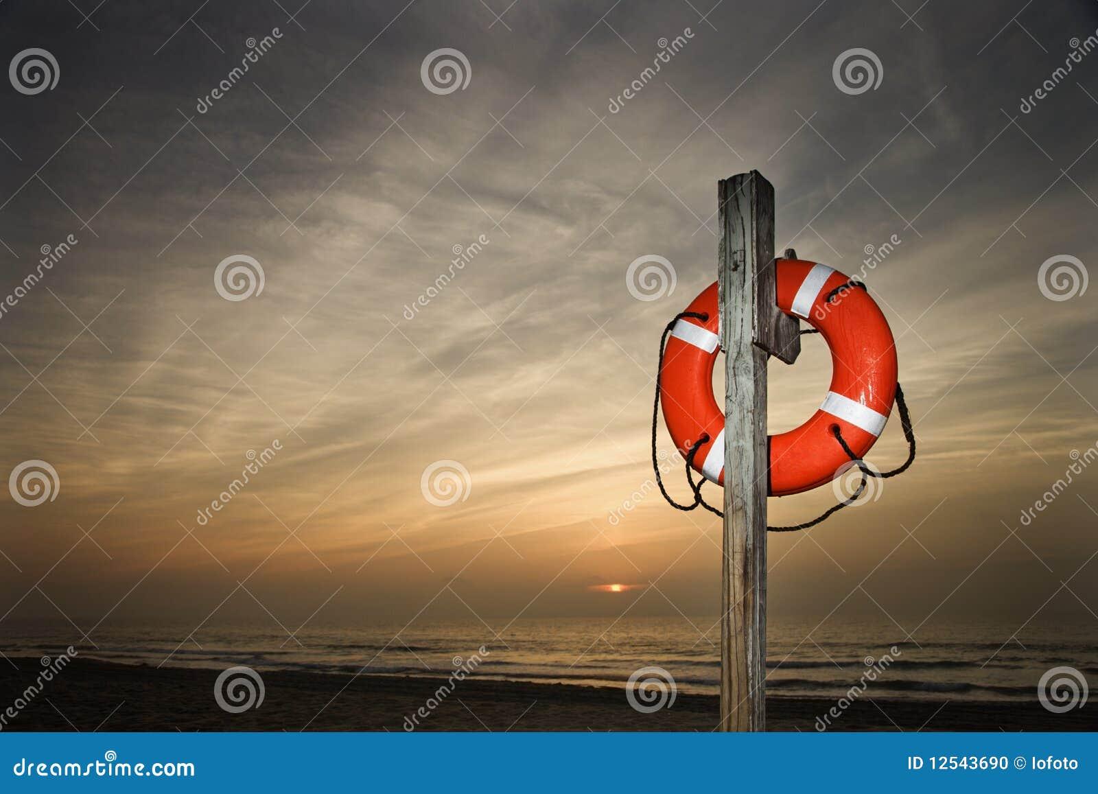 Life Saver on Beach