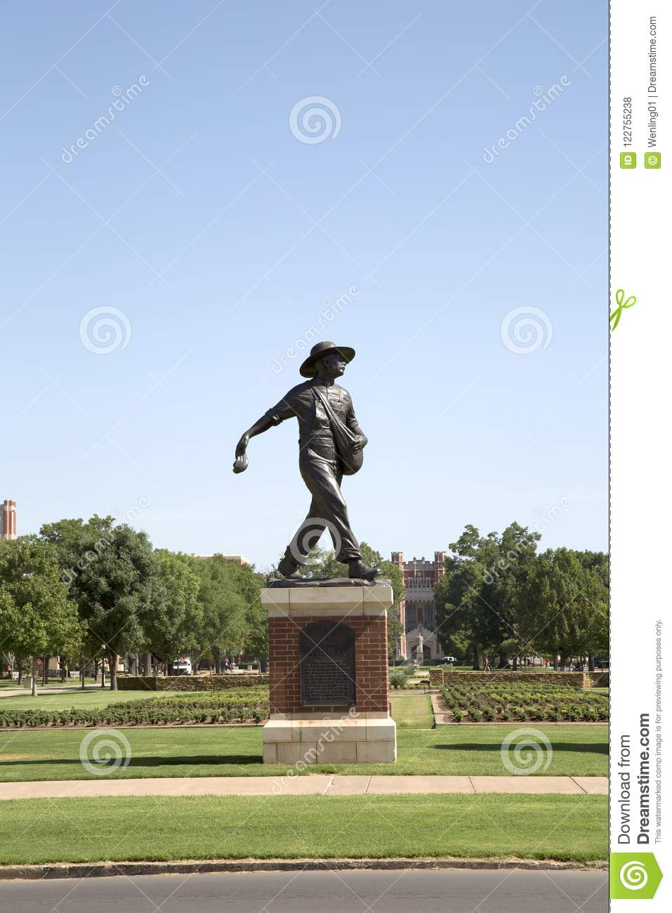 Sculpture of a Sower in University of Oklahoma campus