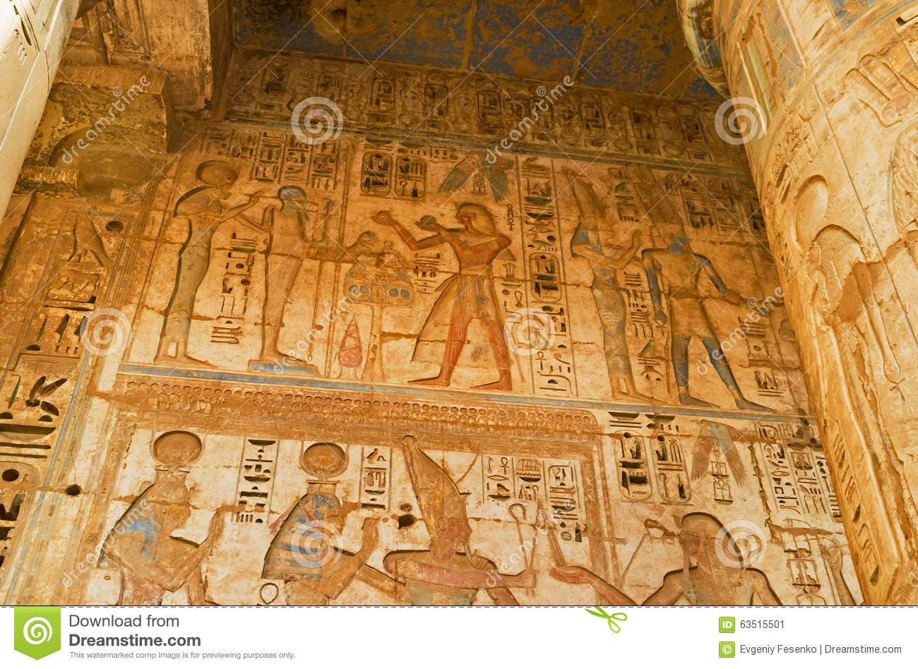 The life story on the wall stock photo image 63515501 for Ancient decoration