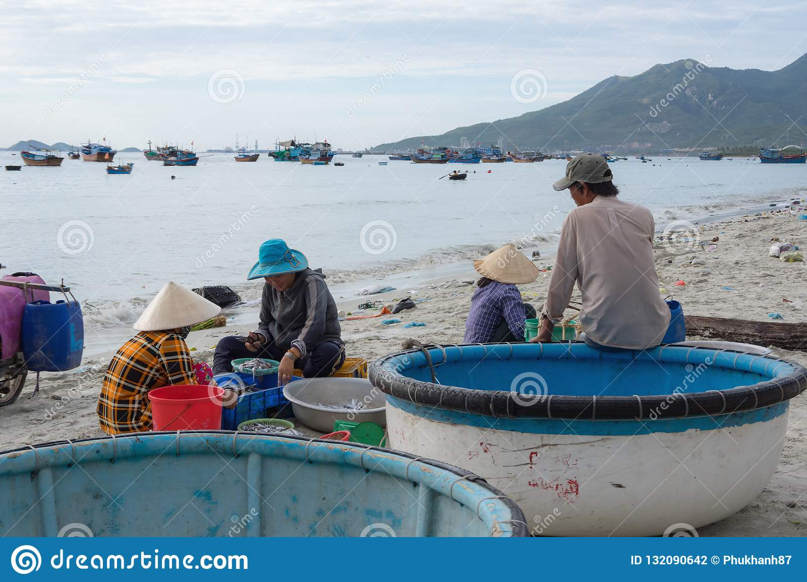 Life And Work In Traditional Fishing Village, In Vietnam Part 5