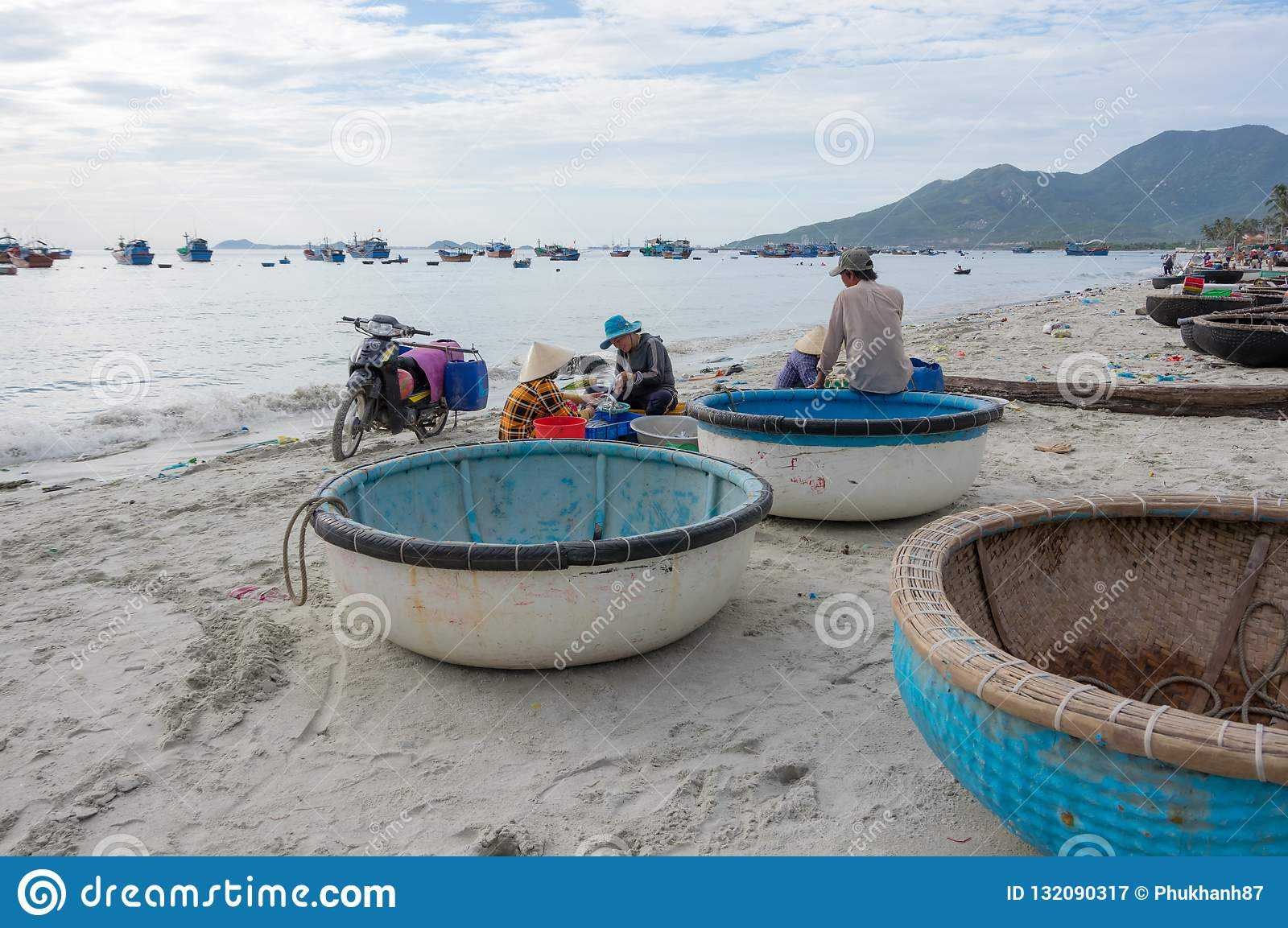 Life And Work In Traditional Fishing Village, In Vietnam Part 6