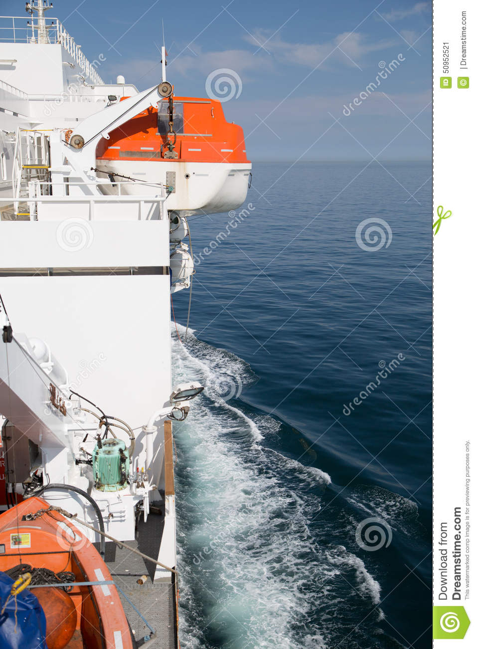 Lifeboat on the ship