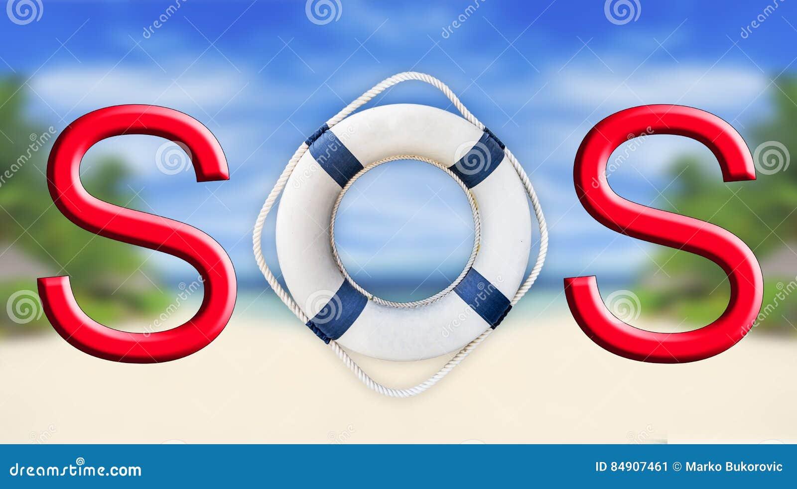 Lifebuoy和SOS标志
