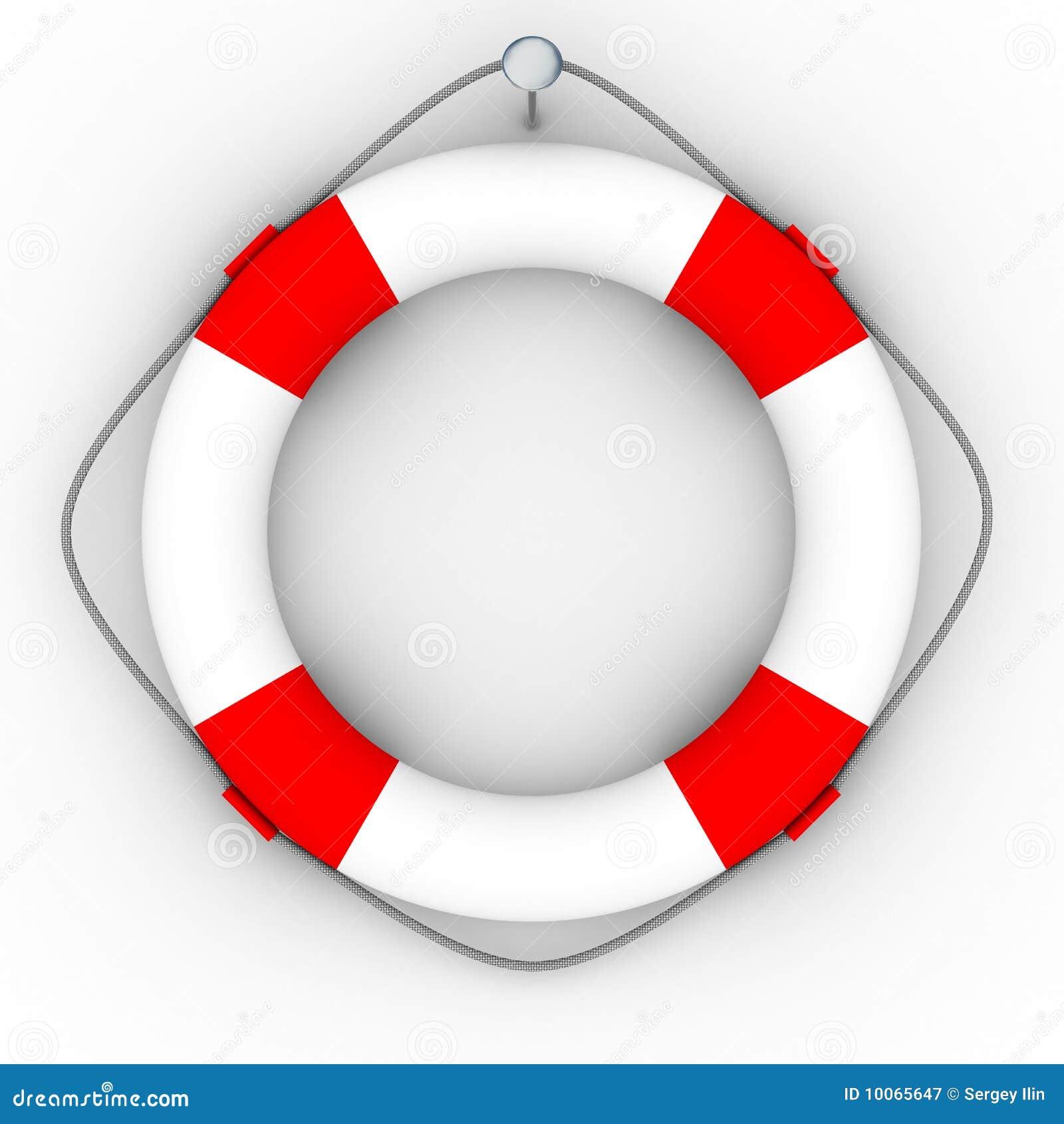 Lifebuoy em um fundo branco