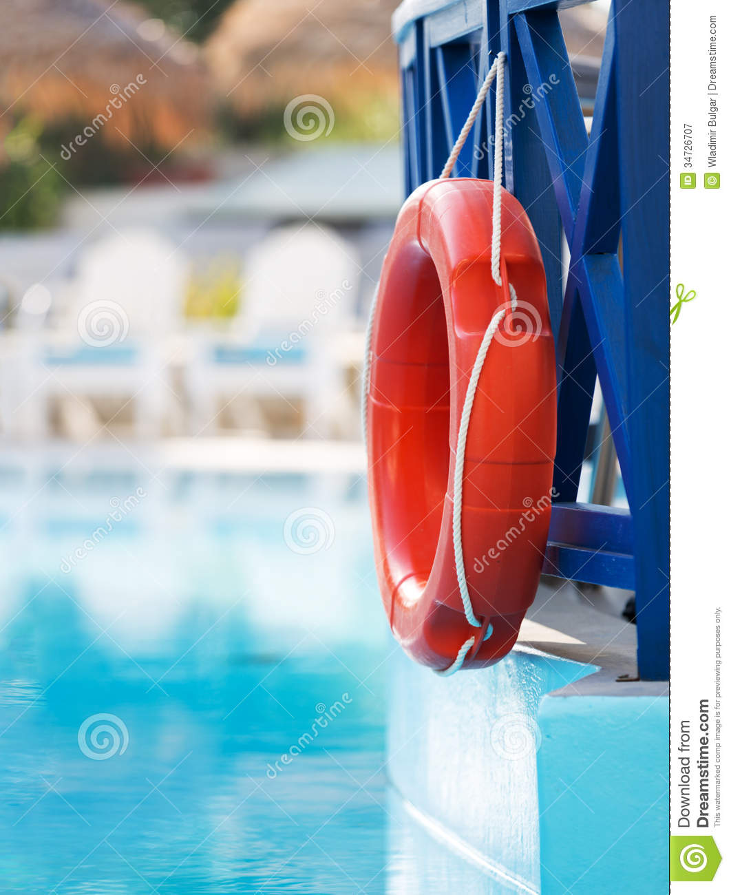 Lifebuoy In Hotel Pool Royalty Free Stock Photography Image 34726707