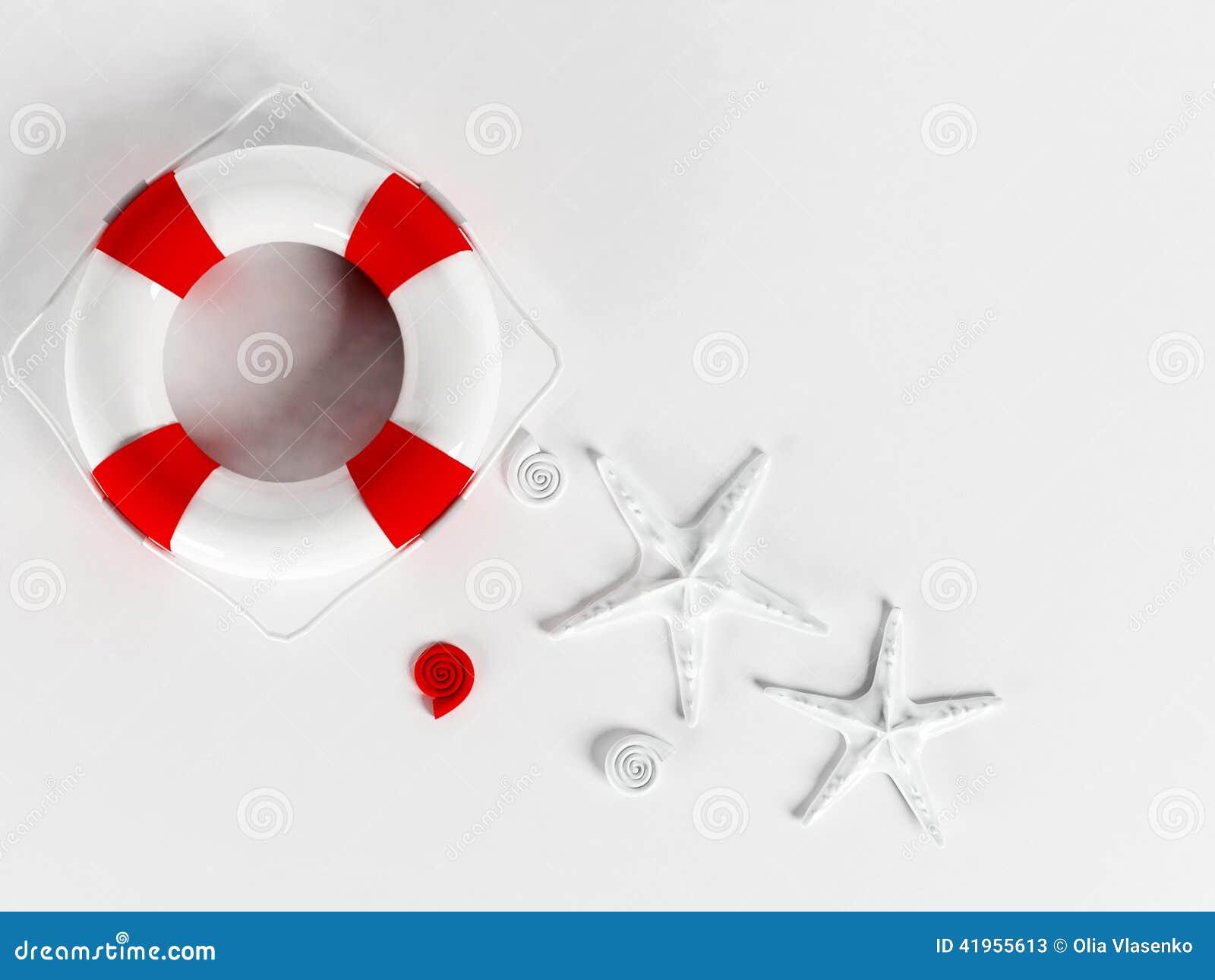 Lifebuoy na bielu