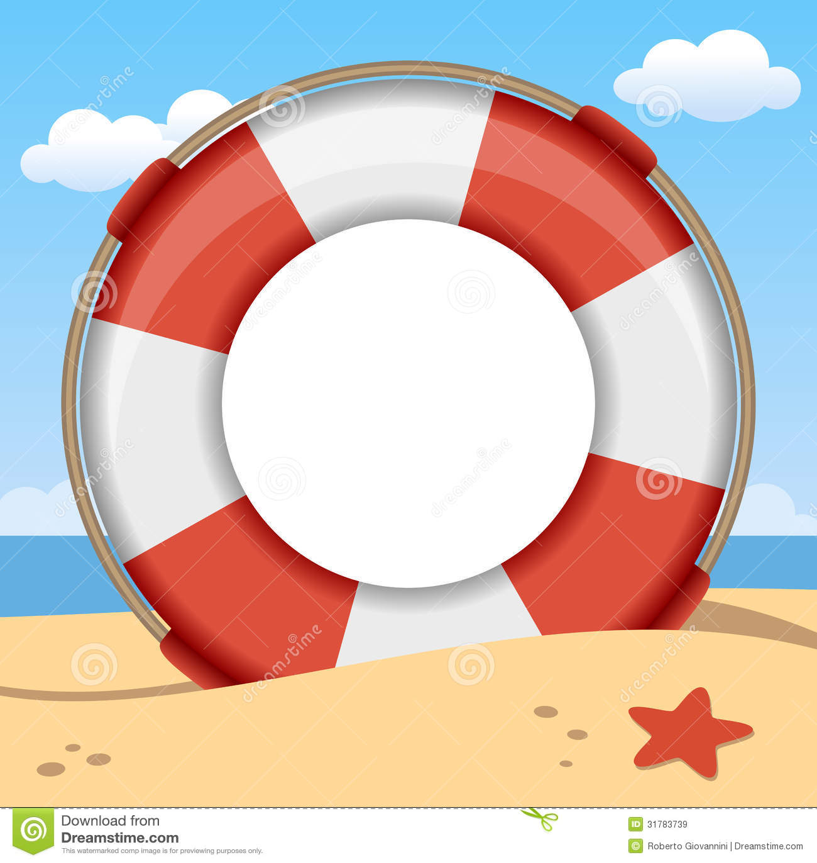 Photo Page: Lifebuoy Summer Photo Frame Royalty Free Stock Images