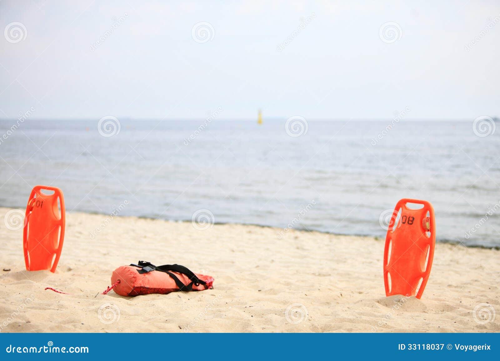 Lifeguard Beach Rescue Equipment Royalty Free Stock