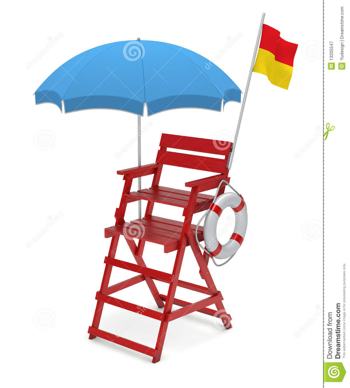 Lifeguard Chair Royalty Free Stock Photography Image