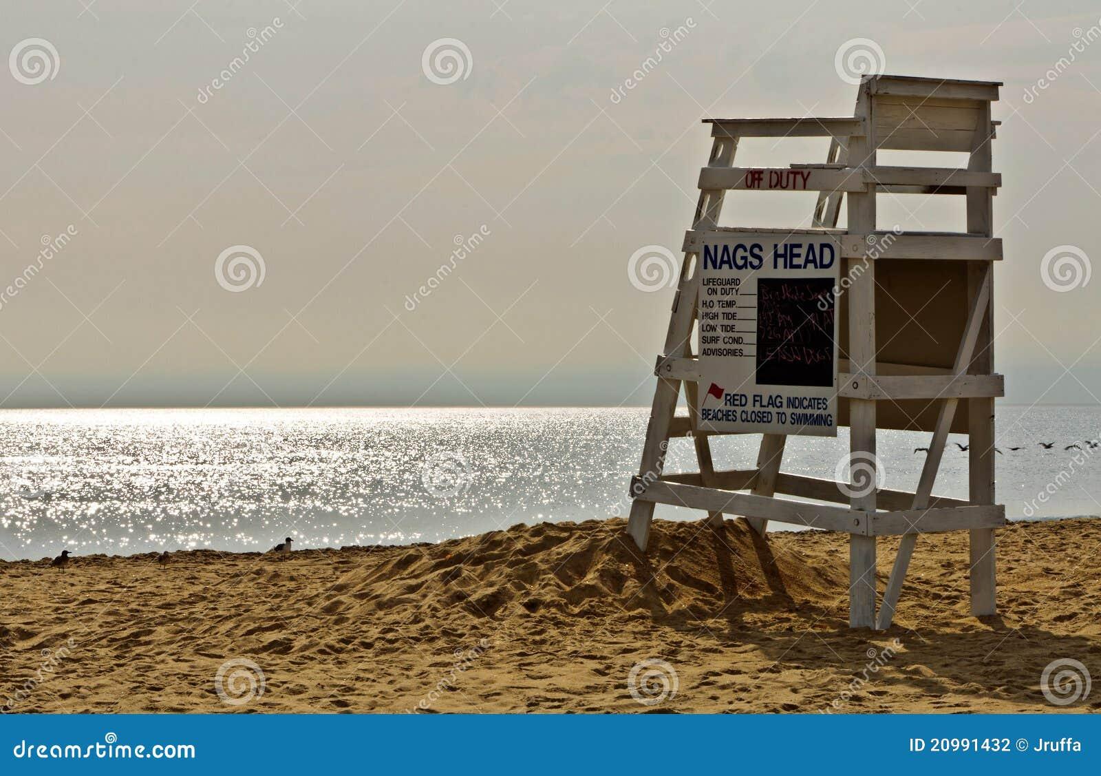 Lifeguard chair on beach