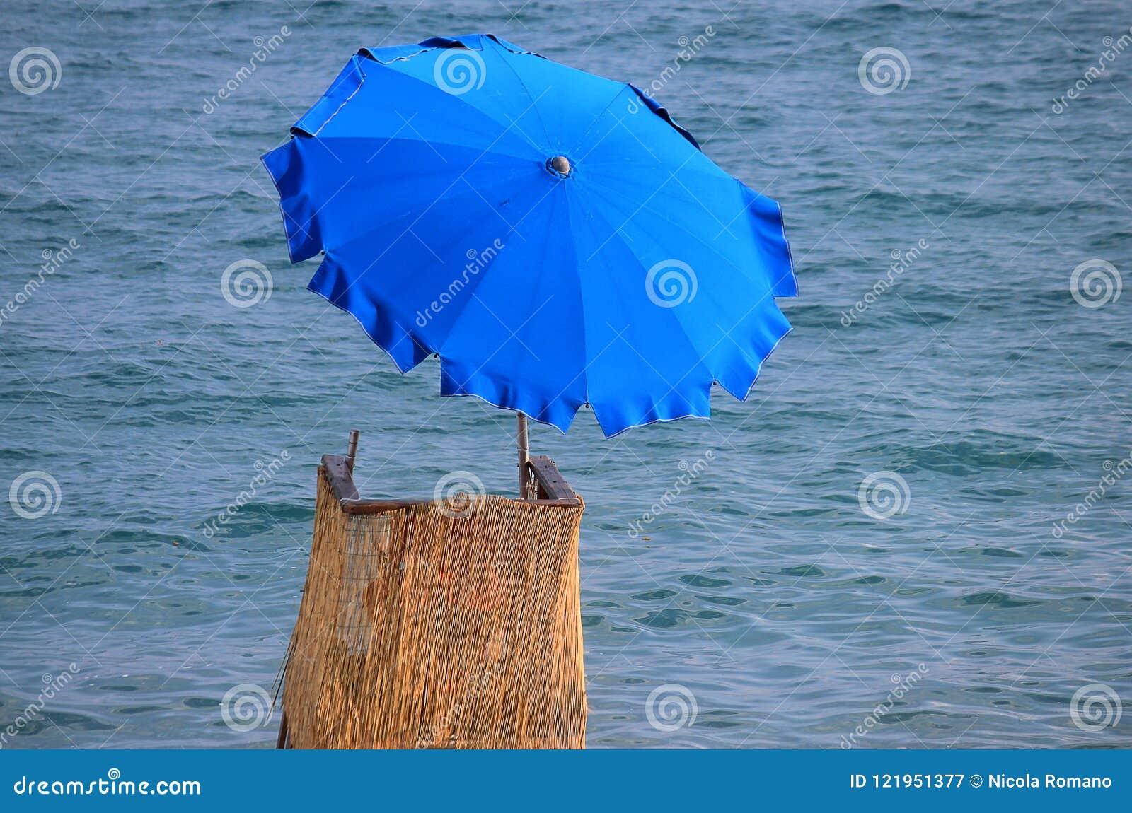 Lifeguard chair with umbrella