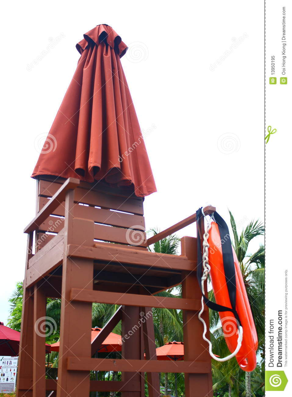 Lifeguard Chair at Poolside