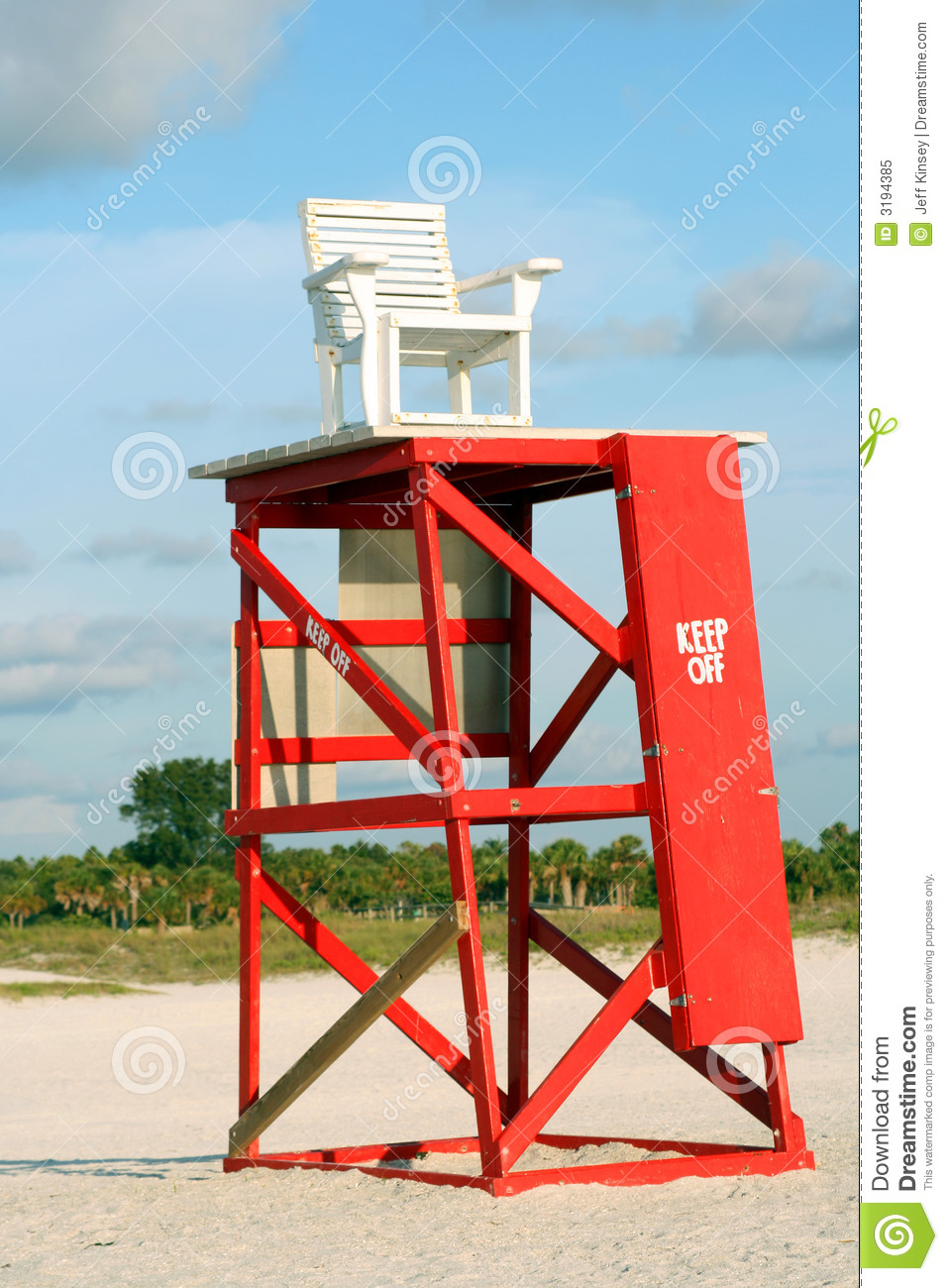 Lifeguard Chair And Tower Royalty Free Stock Photo Image