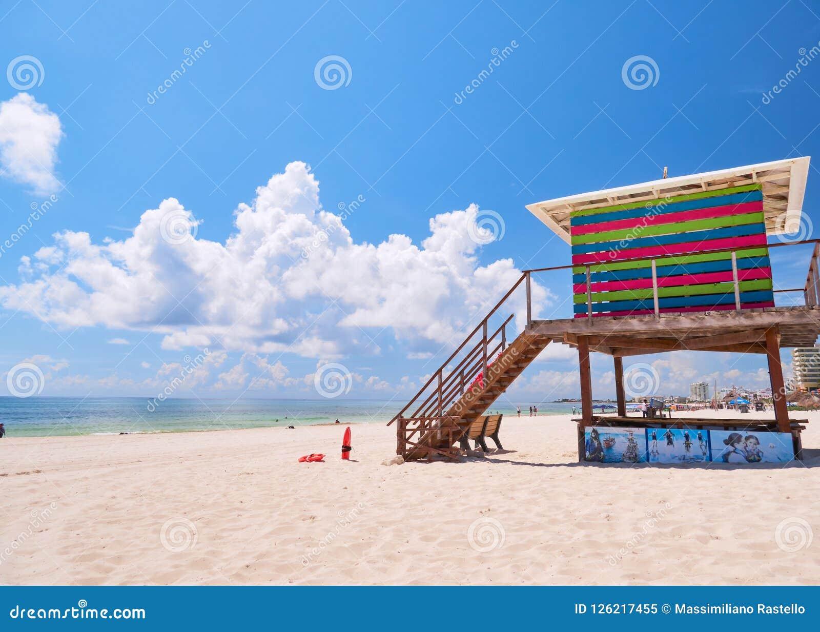 Lifeguard House of Caribbean beach