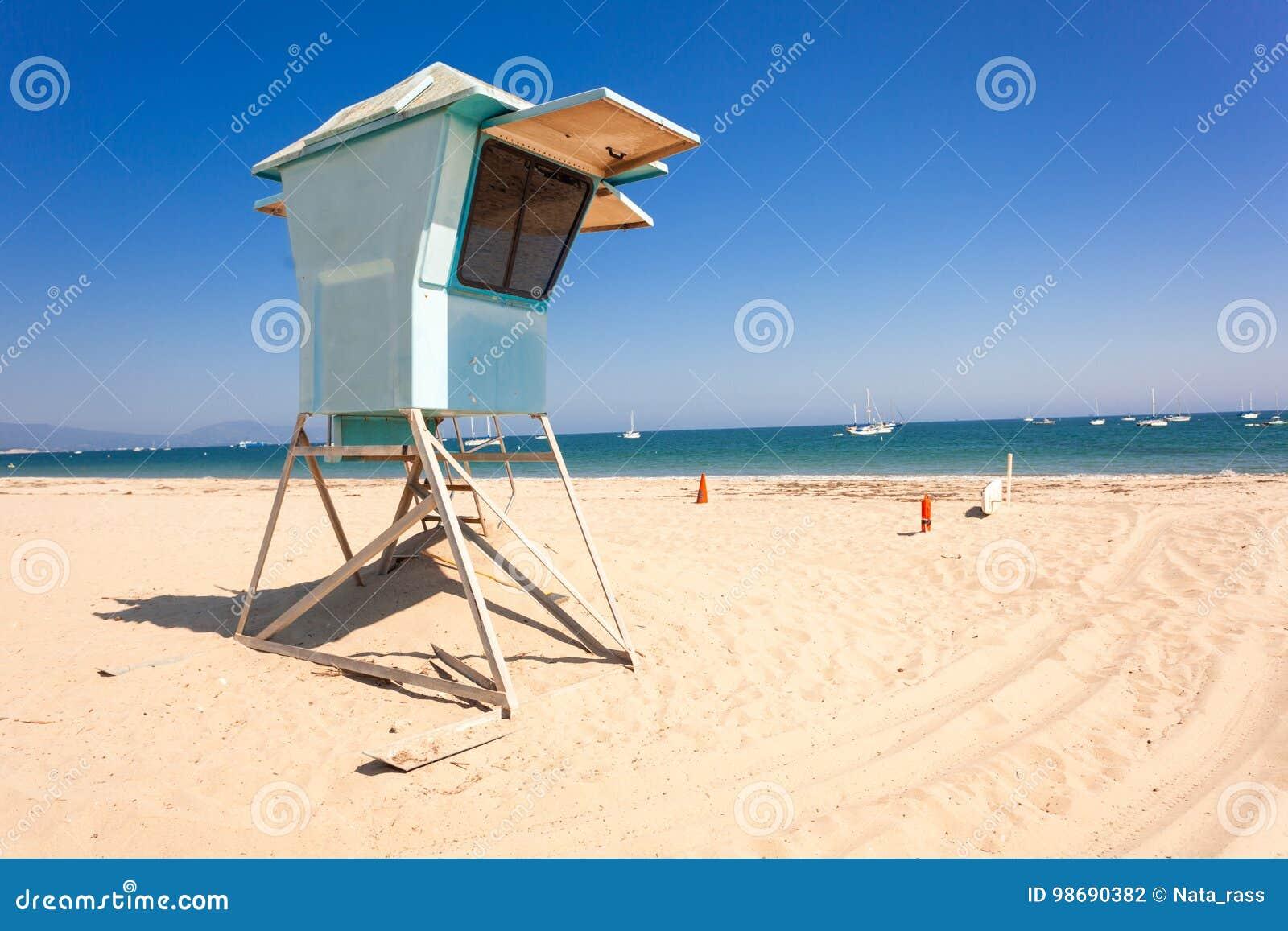 Lifeguard hut on Santa Barbara beach