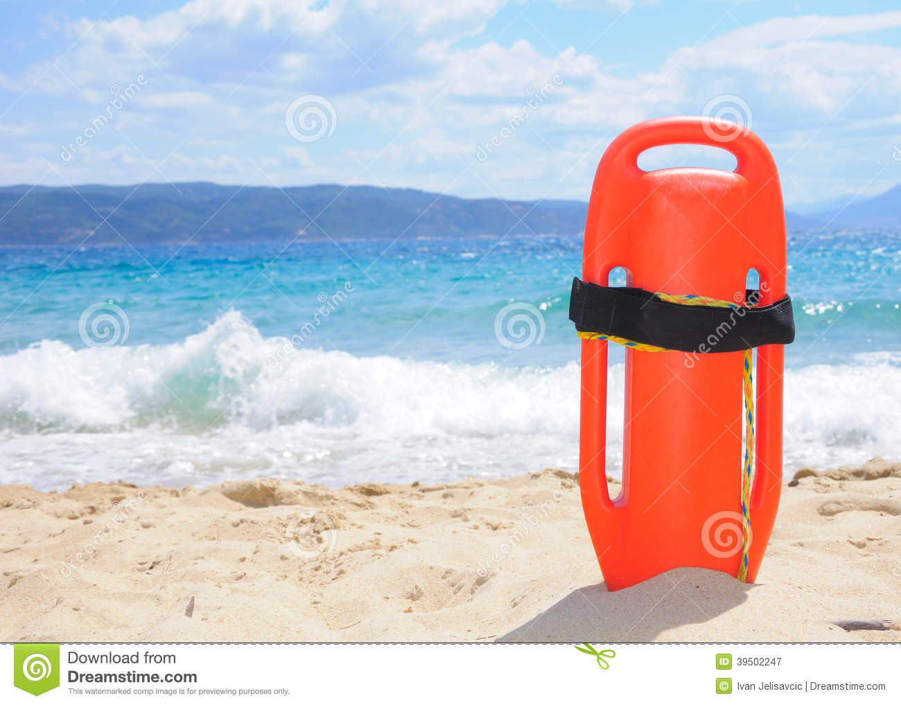 Lifeguard s buoy on the beach