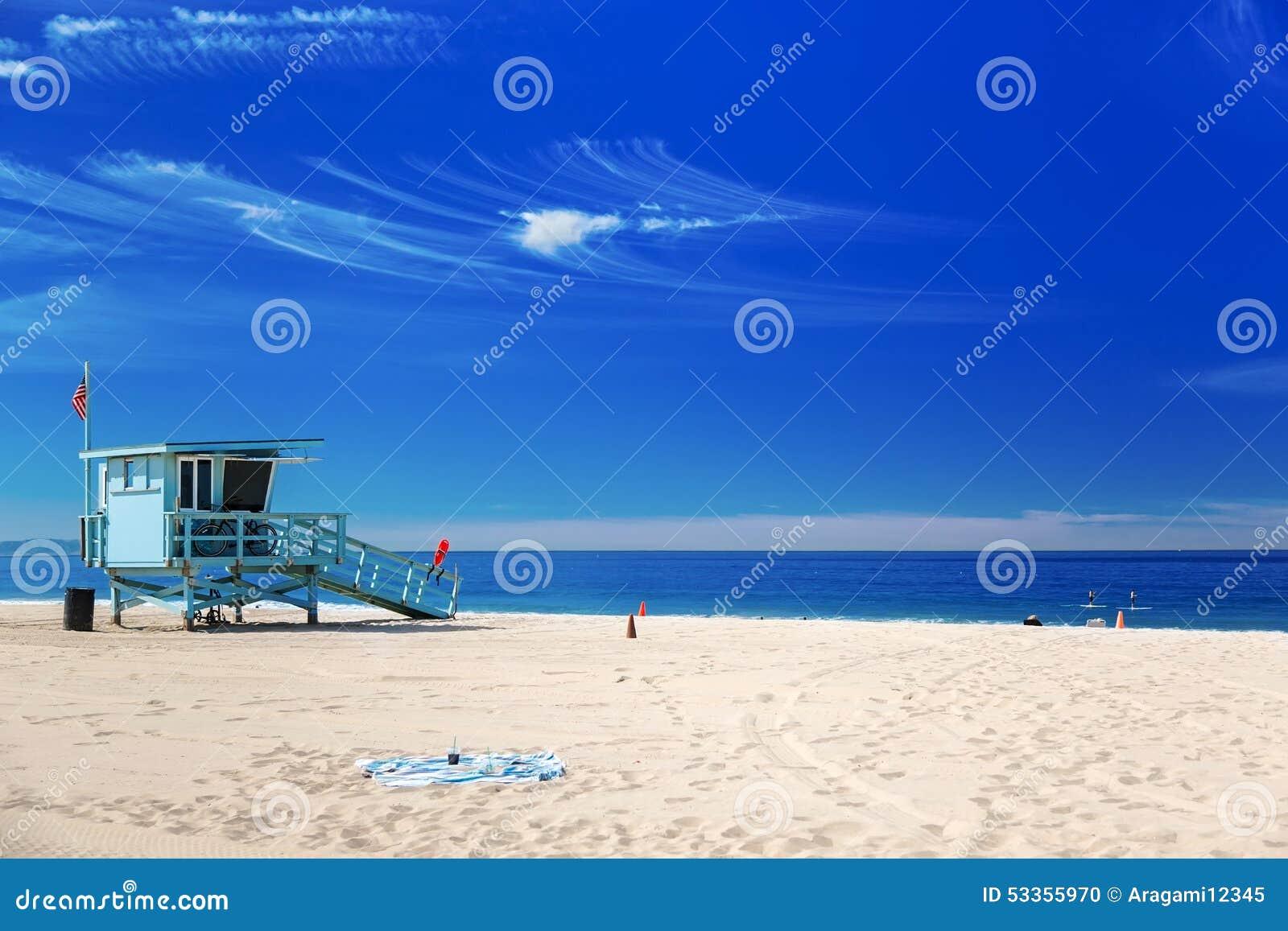 Lifeguard Station At The Beach Stock Photo Cartoondealer