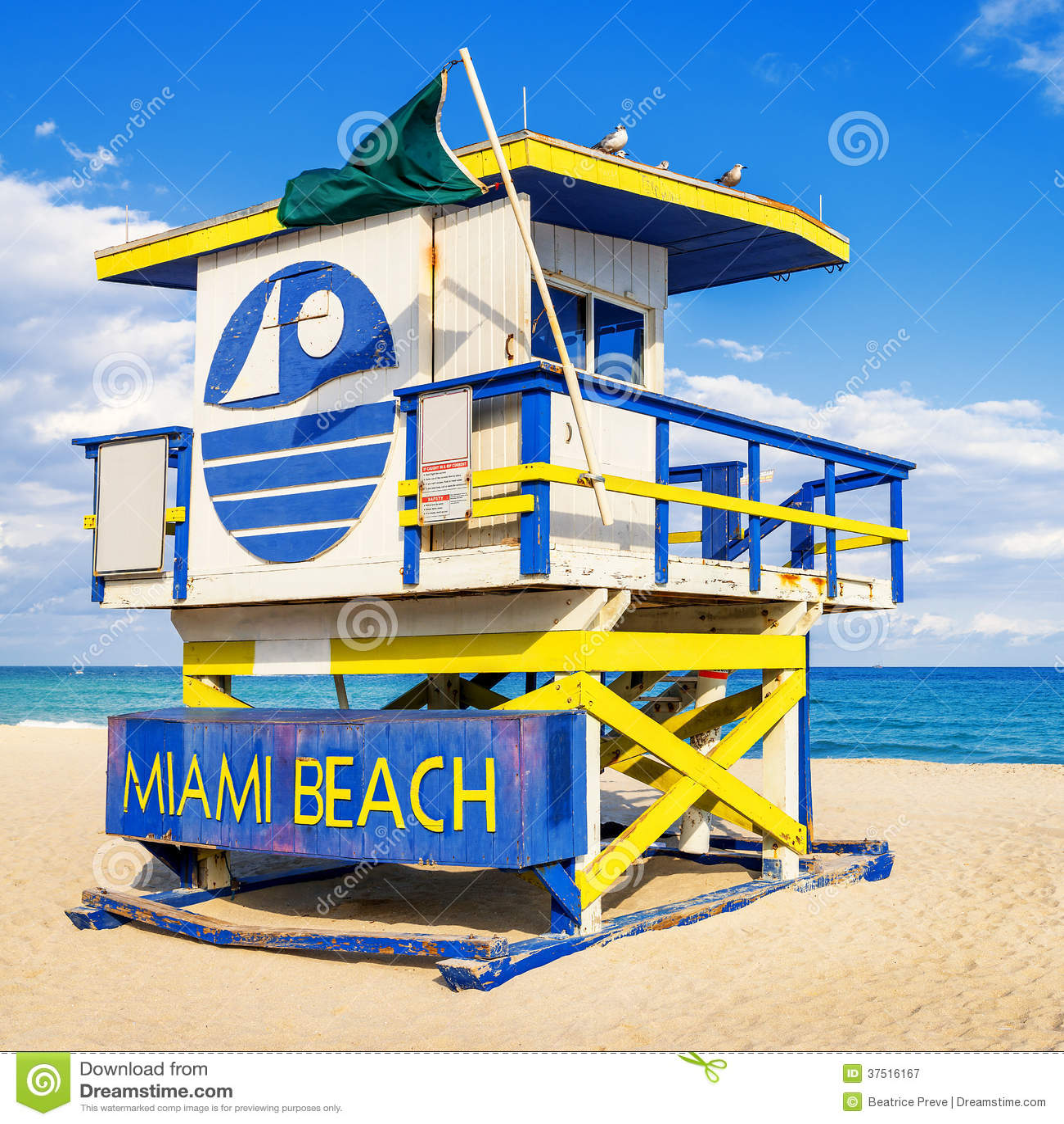 Miami Beach Lifeguard Stands