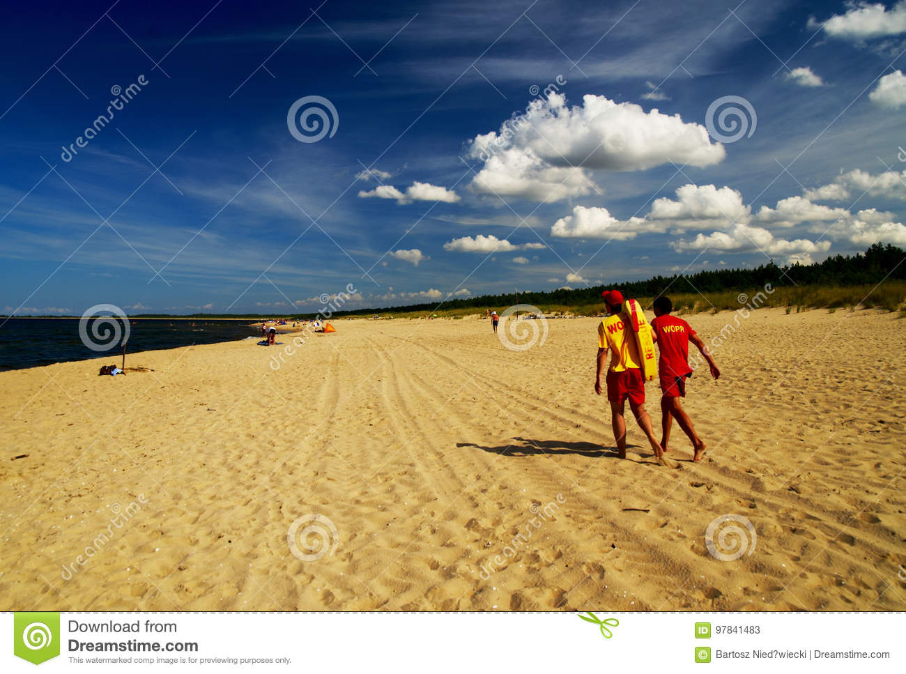 Lifeguards at the seaside