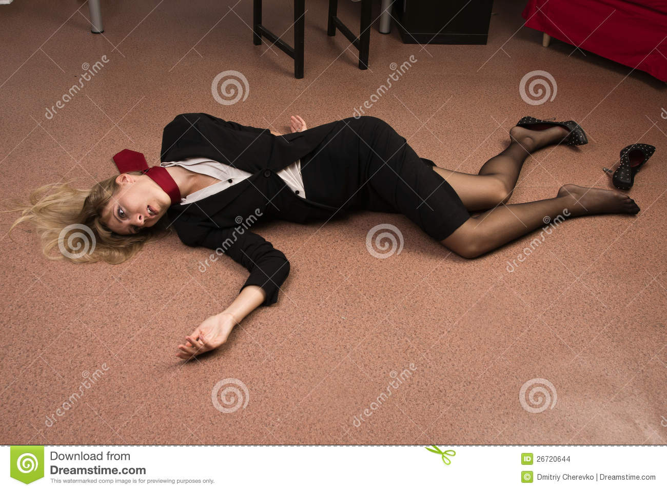Lifeless Business Woman Lying On The Floor Stock Images  : lifeless business woman lying floor 26720644 from www.dreamstime.com size 1300 x 957 jpeg 174kB