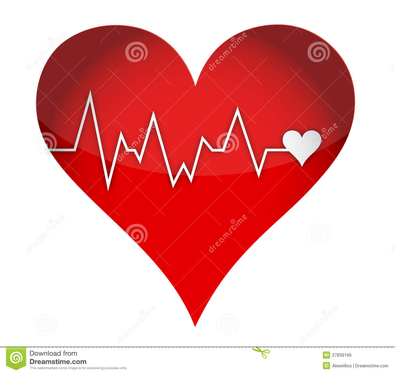 Lifeline Heart Stock Illustration Illustration Of Care 27839166