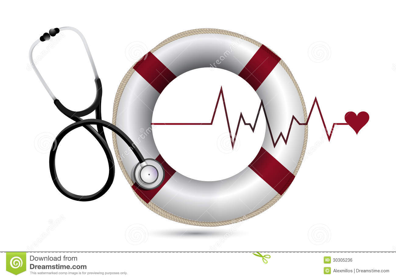 Lifeline And Lifebuoy With A Stethoscope Royalty Free Stock Image ...