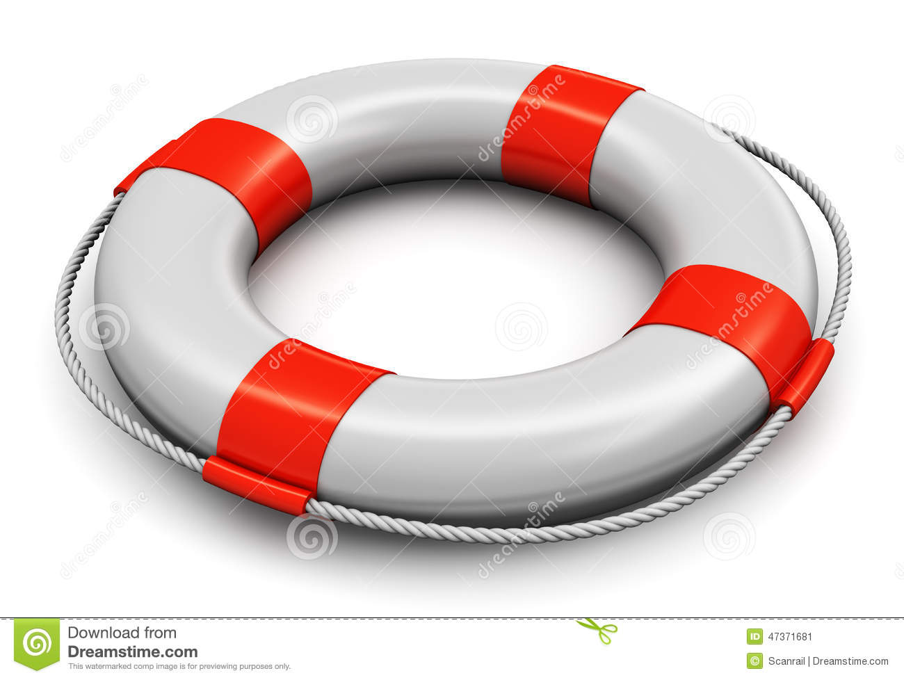 A Red Lifesaver Royalty-Free Stock Image