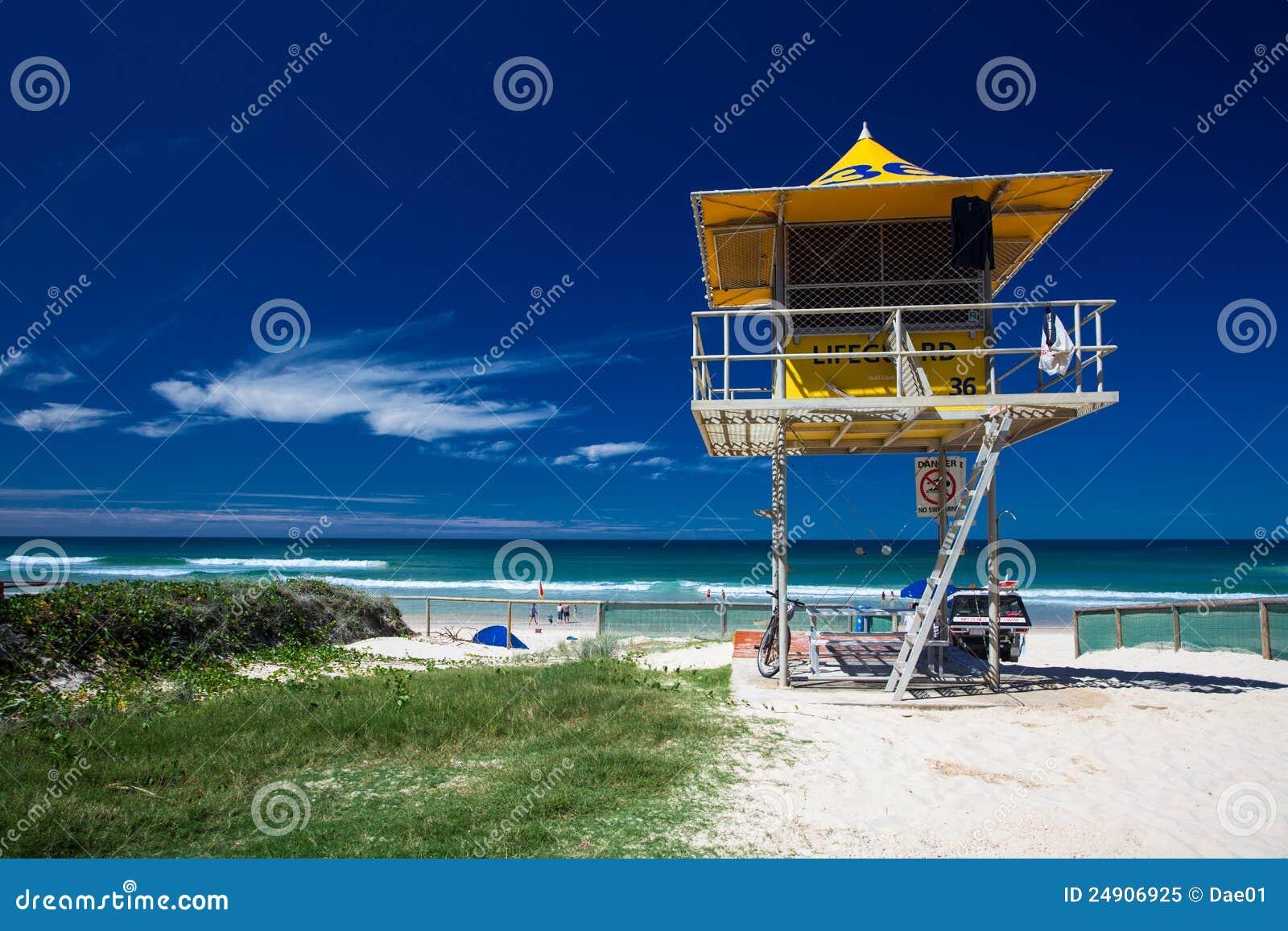 e0656fe5026 Lifesaver patrol tower stock image. Image of coast