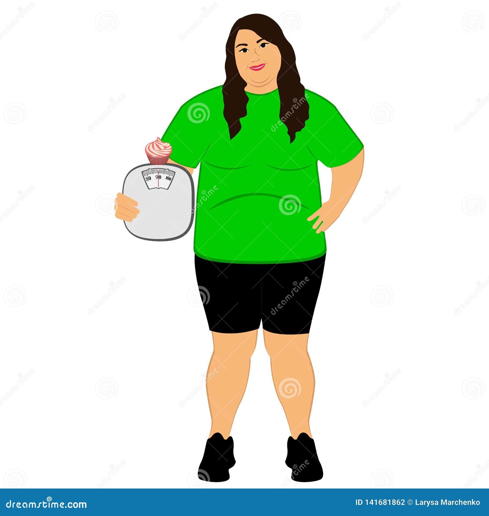 Lifestyle Η επιλογή Παχιά γυναίκα Ανακριβή τρόφιμα ζύγισμα
