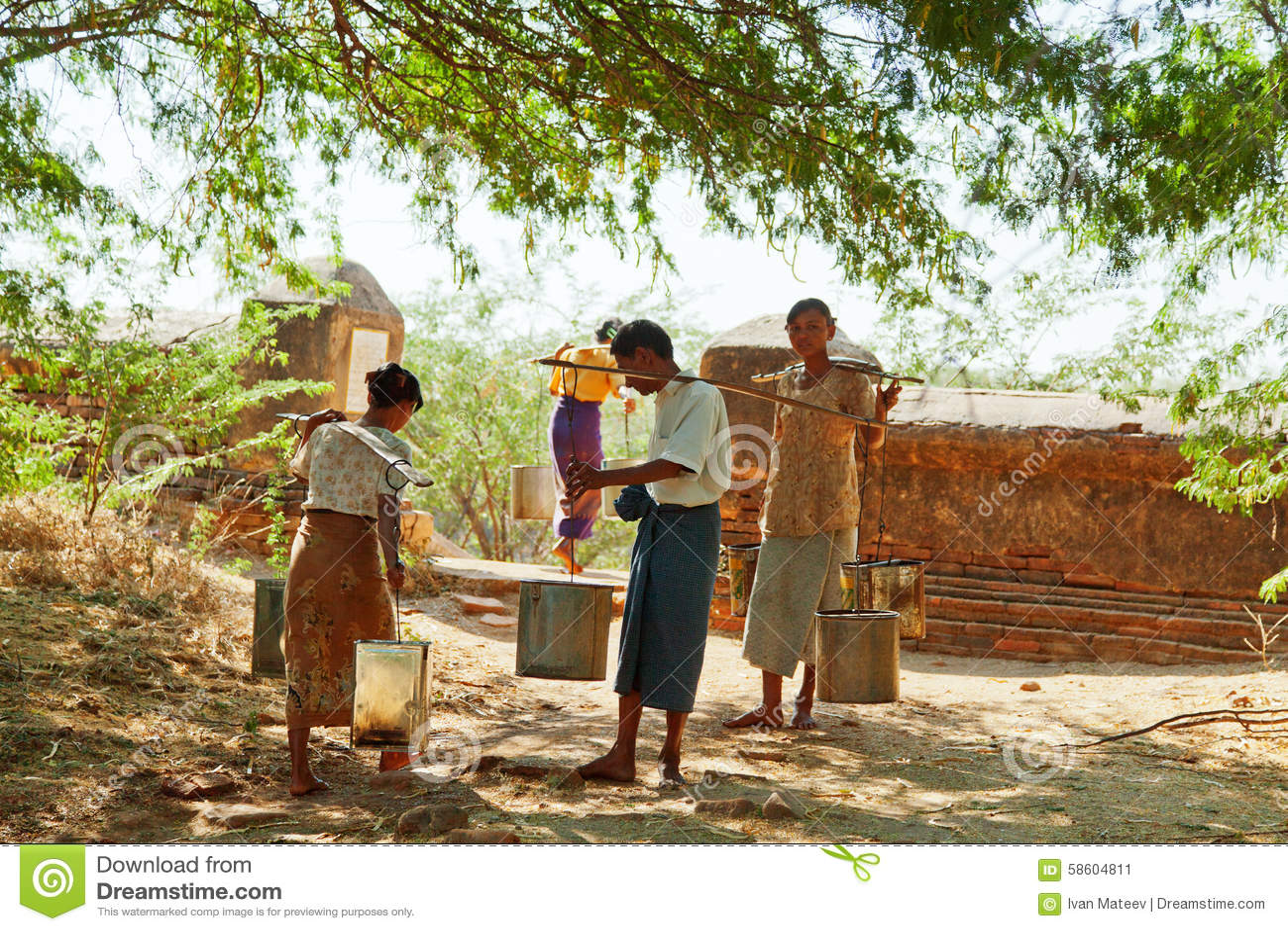 Lifestyle in Bagan, Myanmar