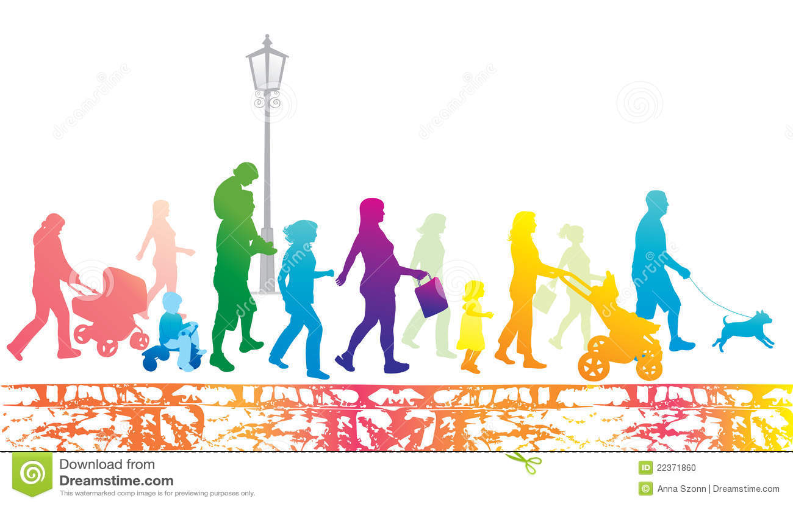 Lifestyle In The City. Walking People.Urban Scene. Stock ...